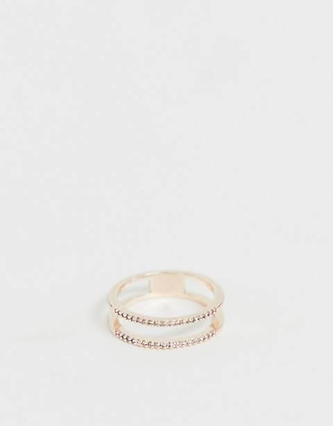 ALDO – Quartier Eternity – Verzierter Ring in Roségold
