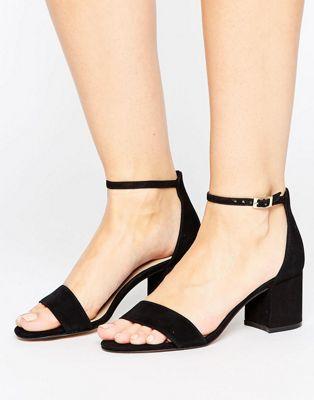ALDO Villarosa  Leather Block Heel Sandals