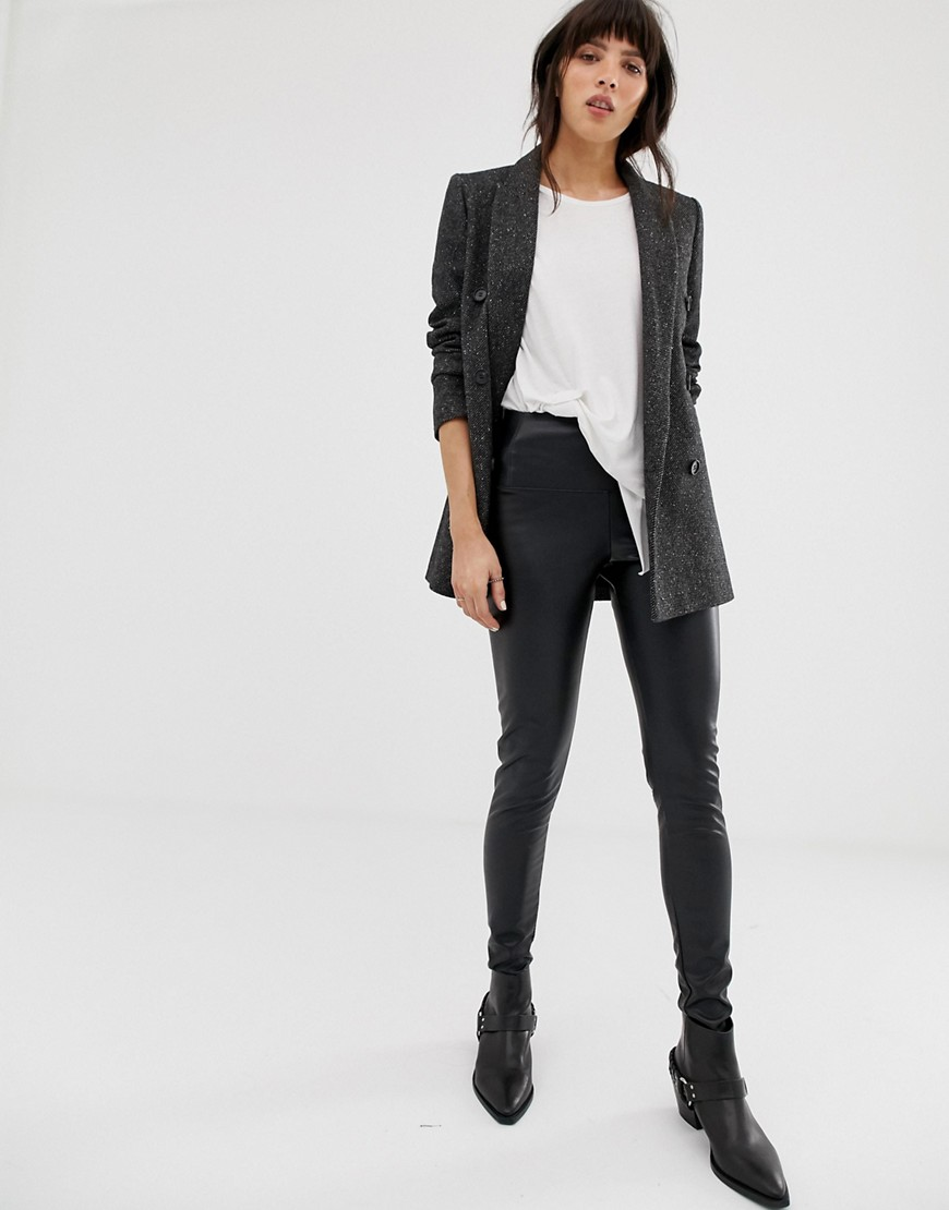 AllSaints - Cora - Legging en similicuir-Noir