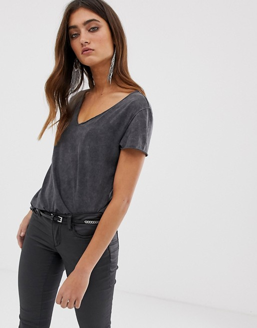 AllSaints emelyn budan acid wash t-shirt