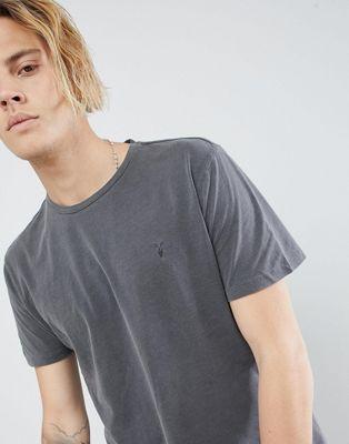 AllSaints – Graues T-Shirt mit Logo
