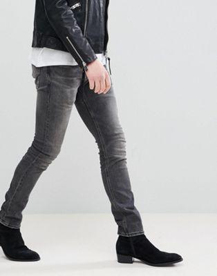AllSaints - Jean skinny - Noir délavé