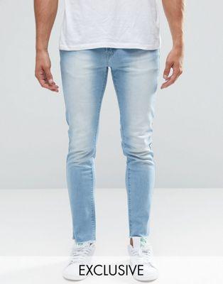 Image 1 of Always Rare Stonewash Skinny Jeans with Raw Hem