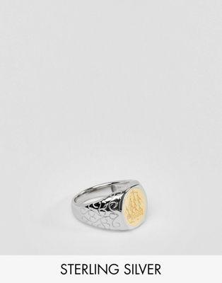 Anillo de plata de ley chapado en oro de 14 quilates merchant de Serge DeNimes
