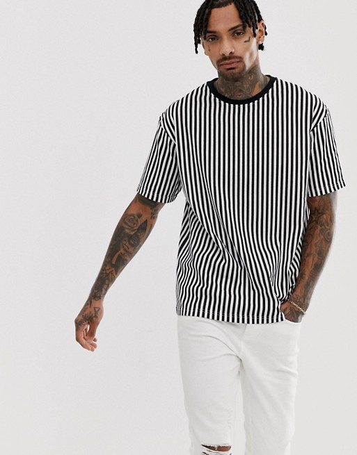 Another Influence stripe boxy t-shirt