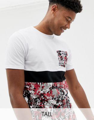 Immagine 1 di Another Influence TALL - T-shirt mimetica con pannello a contrasto