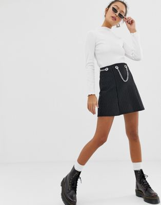 Bild 1 av Another Reason – minikjol med kedjedetalj i midjan
