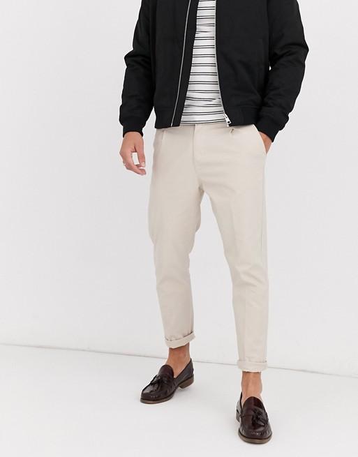 Aray - Pantalon chino court coupe ample