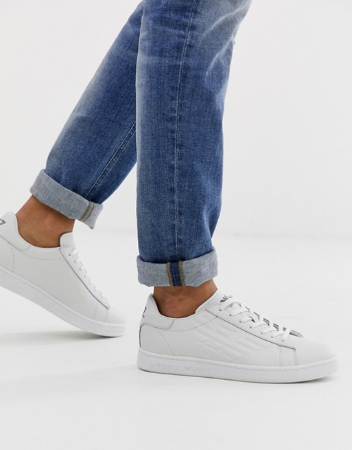 Armani Ea7 Classic Sneakers In White by Ea7