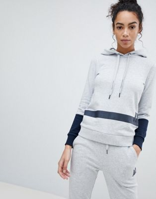 Armani Exchange AX Colour Block Stripe Hoody