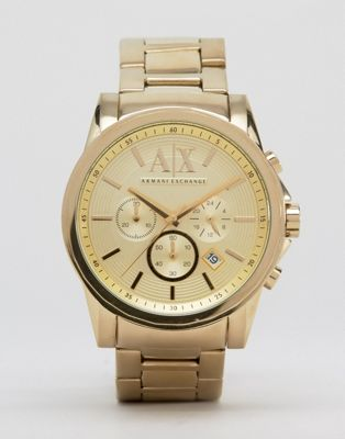 Armani Exchange AX2099 Chronograph Gold Stainless Steel Strap Watch