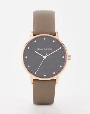 Armani Exchange - AX5553 Lola - Leren horloge 36 mm