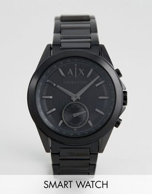 Armani Exchange Connected AXT1007 Bracelet Hybrid Smart Watch In Black IP