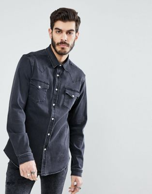 ASOS 11oz Denim Western Shirt