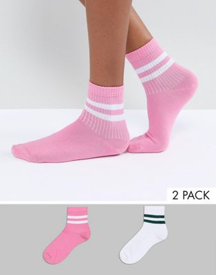 ASOS 2 Pack Stripe Ankle Sock