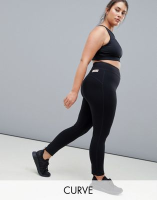 ASOS 4505 Curve high waist sports legging with black elastane