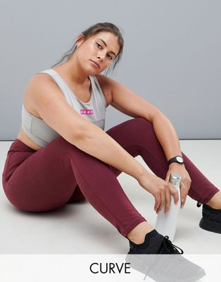 ASOS 4505 CURVE Sports Legging In Heavy Weight In Cotton Elastane