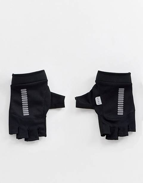 ASOS 4505 fingerless gloves in black with reflective print