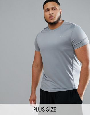 Image 1 of ASOS 4505 Plus t-shirt with quick dry in gray