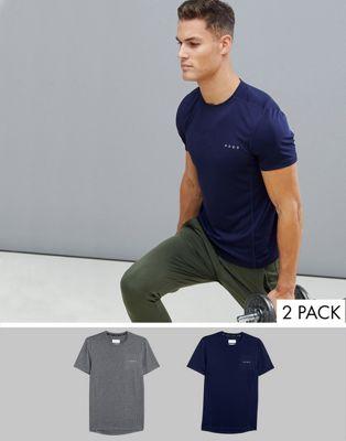 ASOS 4505 - Sneldrogend trainings-T-shirt, voordeelset van 2