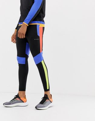 Image 1 of ASOS 4505 super skinny training joggers with colour block cut & sew