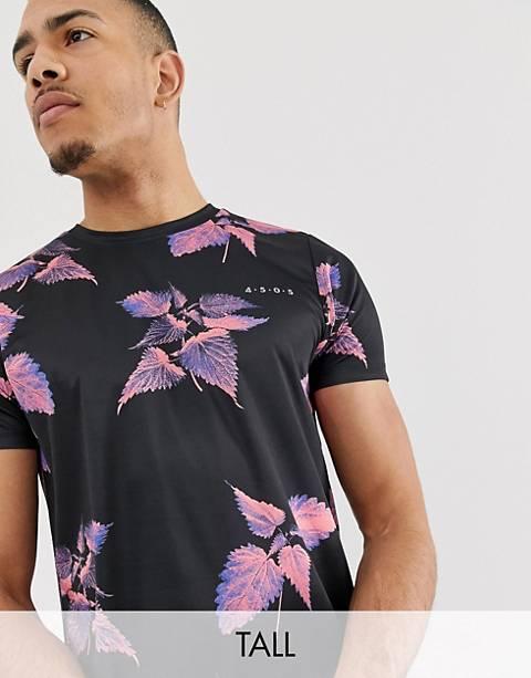 ASOS 4505 Tall – T-Shirt in durchgehendem Blumenmuster