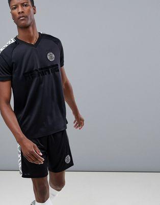 ASOS 4505 - Voetbal - Sneldrogend T-shirt in zwart