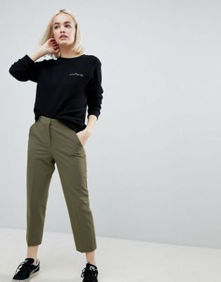ASOS Ankle Grazer Cigarette Trousers