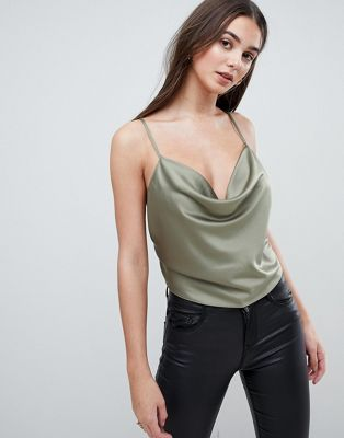 ASOS Backless Cowl Neck Top