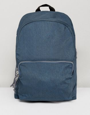 ASOS Backpack In Blue With Exposed Zips