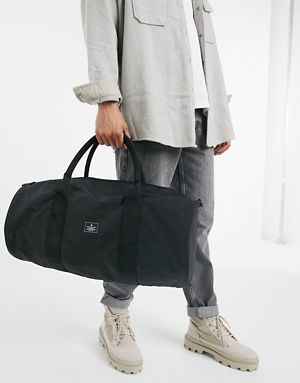 Asos Barrel Bag In Black