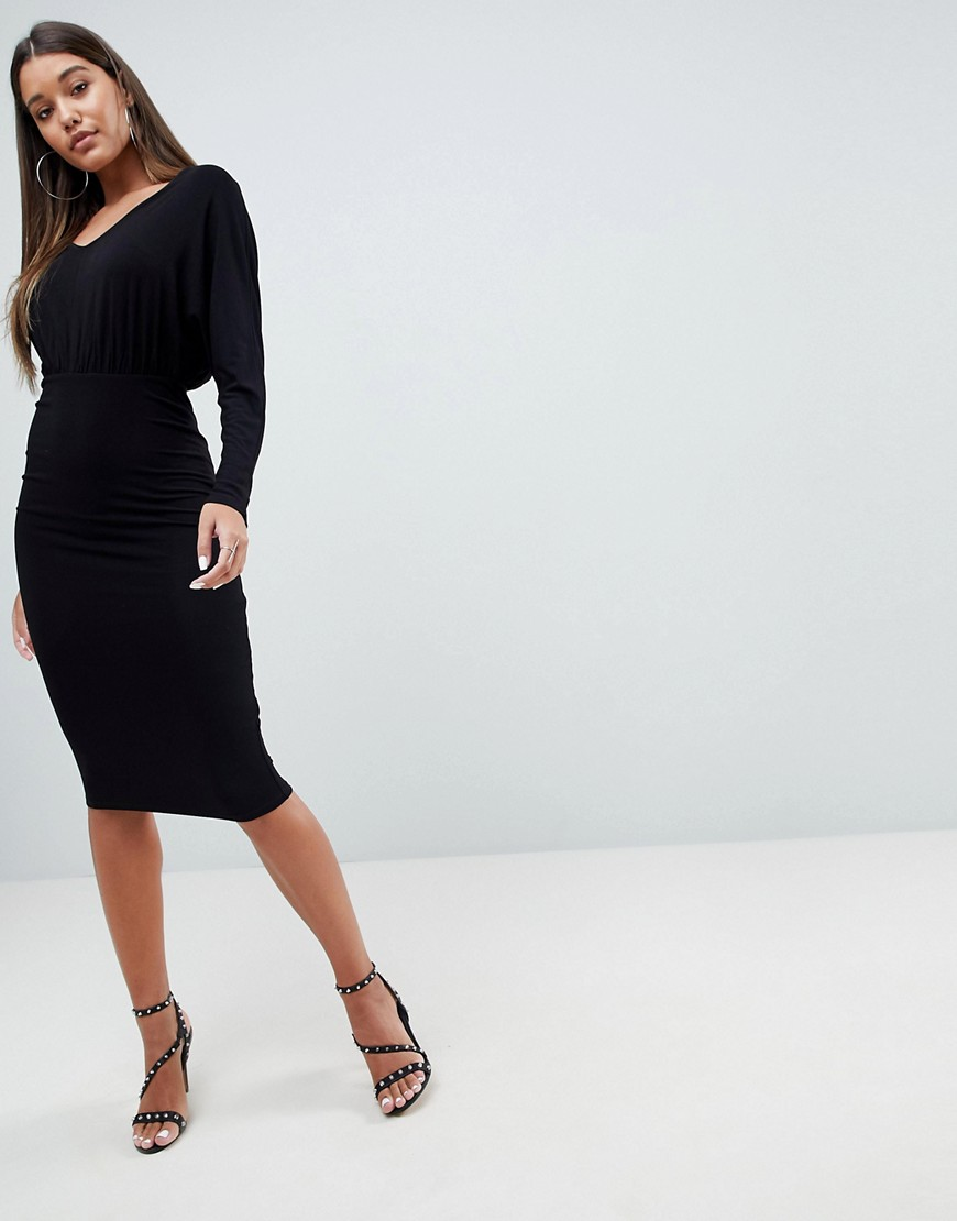 Asos Batwing Sleeve Midi Dress by Asos Collection