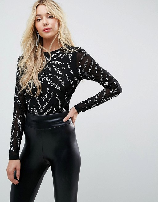 ASOS Body with Scatter Stripe Embellishment