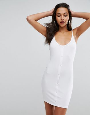 ASOS Bodycon Dress with Popper Details
