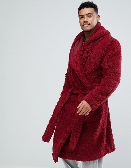 ASOS DESIGN | ASOS Borg Hooded Dressing Gown