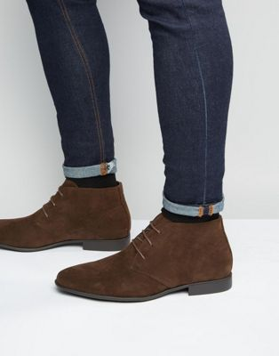ASOS - Bottines Chukka imitation daim - Marron