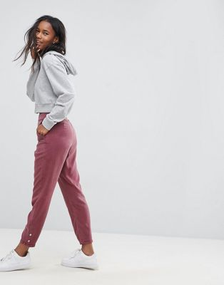 ASOS Buckle Cut Out Back Peg Trousers