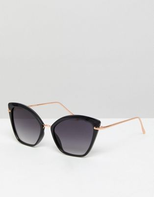 ASOS Cat Eye Sunglasses With Metal Nose Bridge