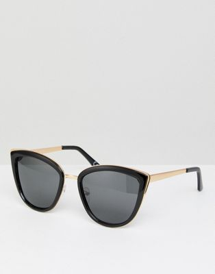 ASOS Cat Eye Sunglasses with Polarised Rose Gold Lens
