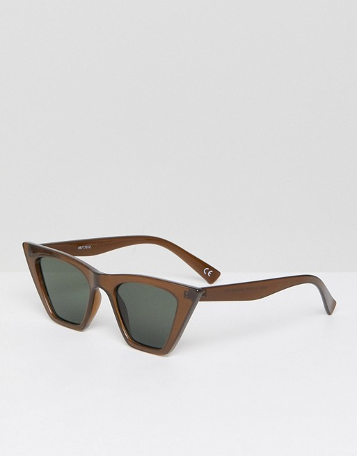 63cf56bde3 ASOS Cat Eye Sunglasses With Square Frame