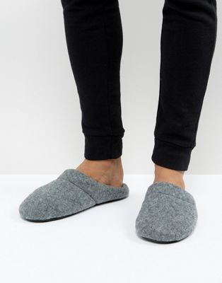 ASOS - Chaussons à enfiler - Gris chiné