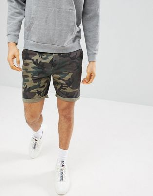 ASOS Chino Shorts With Camo Print