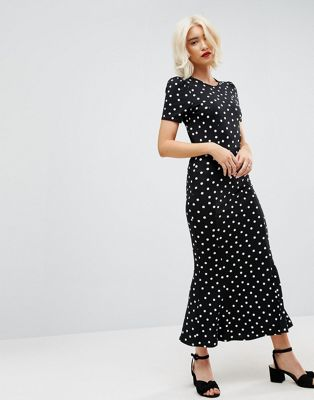 ASOS - City - Robe longue à pois