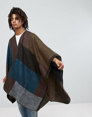 ASOS Color Block Cape In Multi