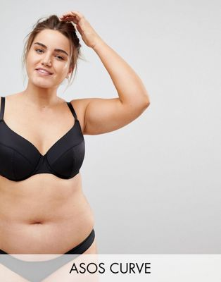ASOS CURVE Basic Microfibre Mix & Match Moulded Plunge Bra