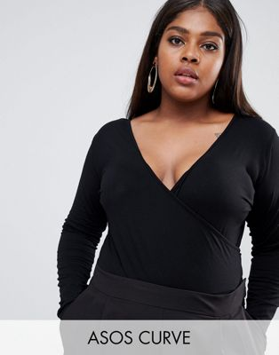 ASOS CURVE Body With Deep Wrap Front And Back