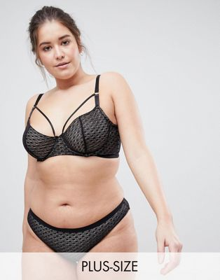 ASOS CURVE Gianna Diamond Lace Underwire Bra