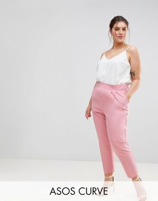 ASOS CURVE High Waist Tapered Trousers