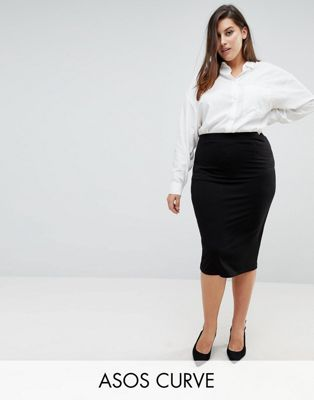 ASOS CURVE Jersey Pencil Skirt