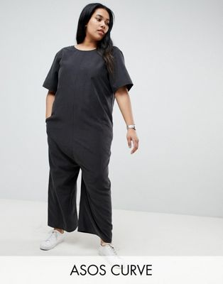 ASOS CURVE Minimal Jumpsuit with Dropped Crotch